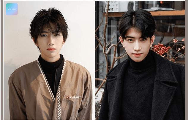 korea korean kpop idol artist group male model parting perm two block cut haircut curly wavy hairstyles guys men kpopstuff