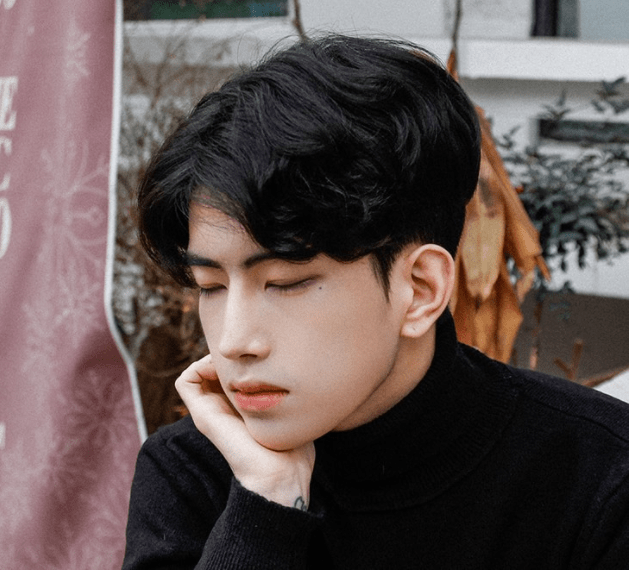 korea korean kpop idol artist group male model parting perm with two block haircut cut hairstyles guys men close up kpopstuff