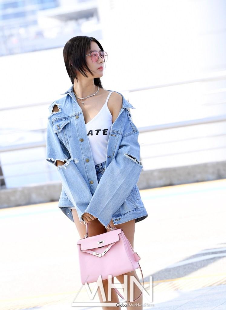idol girl band group actress clara with long short hime cut
