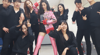korea korean kpop idol girl group band wonder girls sunmi's fashion looks comeback stage gashina backstage pink floral outfit styles girls women kpopstuff