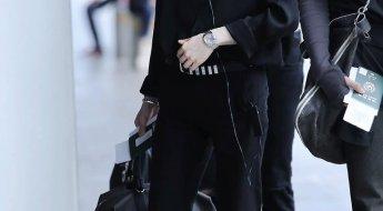 korea korean kpop idol boy band group bts bangtan yoongi bts suga's black airport fashion sandals spring weather outfits styles fashion guys boys kpopstuff