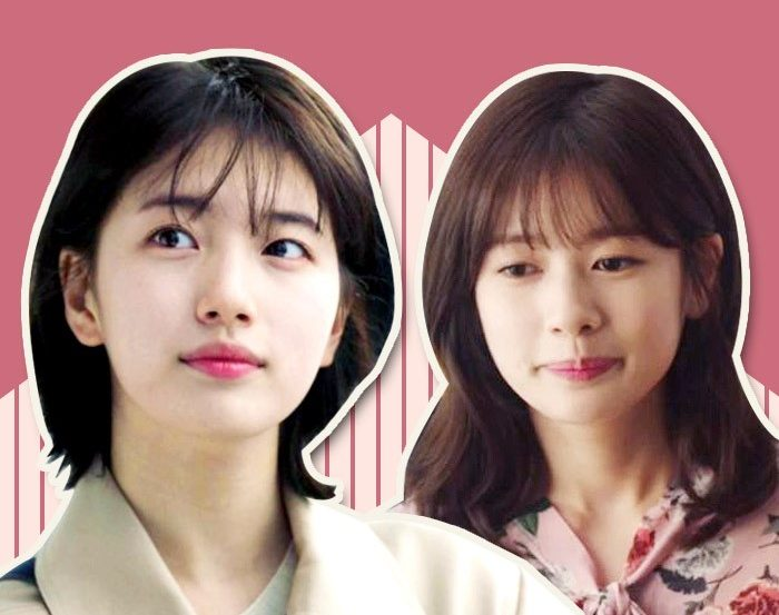 korea korean kpop idol drama kdrama hairstyles layered cut while you were sleeping suzy because it's my first life jung so min women girls hairstyle looks kpopstuff