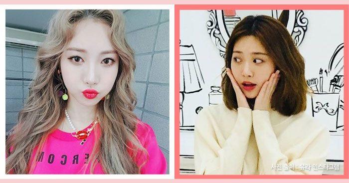 korea korean kpop idol girl group band girls day yura matte brown darker kpop hair looks hairstyle color dye winter trends girls women kpostuff