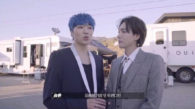 korea korean kpop idol winner winner's everyday fashion white and black seungyoon suit looks outfits guys men kpopstuff