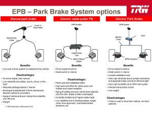 TRW Electric Parking Brake EPB  KPS Automotive Parts