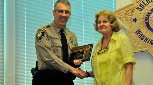 Sheriff Pat Garrett and Donna Lane. Photo: Washington Co. Sheriff's Office