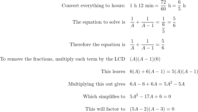 9.10 Rate Word Problems: Work and Time
