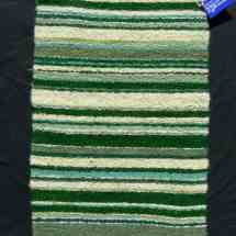 Rug Wool mall green stripe 13.06