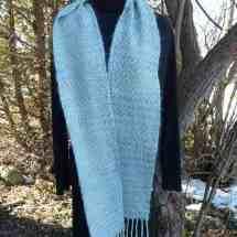 scarf light blue mohair 16.25