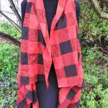 pieced wrap red black 19.93a