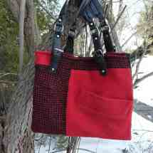 purse with handles black red 16.39b