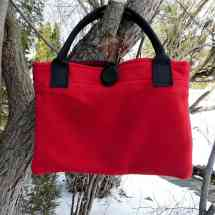purse with strap black red 16.38a