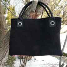 purse with strap black red 16.38b