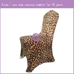 Animal Skin Chair Covers Dining Room Chairs For Sale Leopard Spandex Cover 19336 Kaiqi Wedding