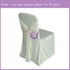 Ivory Chair Covers Spandex Tufted Nailhead Attached Ties Cover 444 Kaiqi Wedding