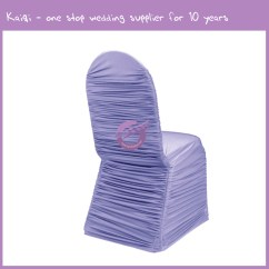 Chair Covers Yes Or No Red Leather Office Lilac Roughed Spandex Cover 951 Kaiqi Wedding