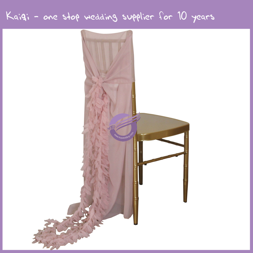 blush chair sashes office for standing desk pink bridal cover wedding ruffle