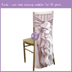 Blush Chair Sashes Wicker Dining Chairs Uk Pink Bridal Chiffon Ruffled Hood 2 Tones