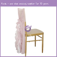 Blush Chair Sashes Bar Height Pub Table And Chairs Pink Bridal Chiffon Ruffled Willow Slipcover