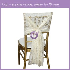 Elegant Chair Covers For Sale Acapulco Comfortable Ivory Beautiful Lace Sash Hood Wholesale