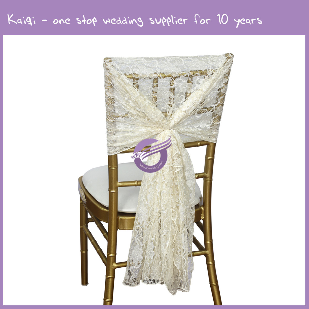 Chair Sashes For Sale Ivory Beautiful Lace Chair Sash Hood Wholesale For Sale