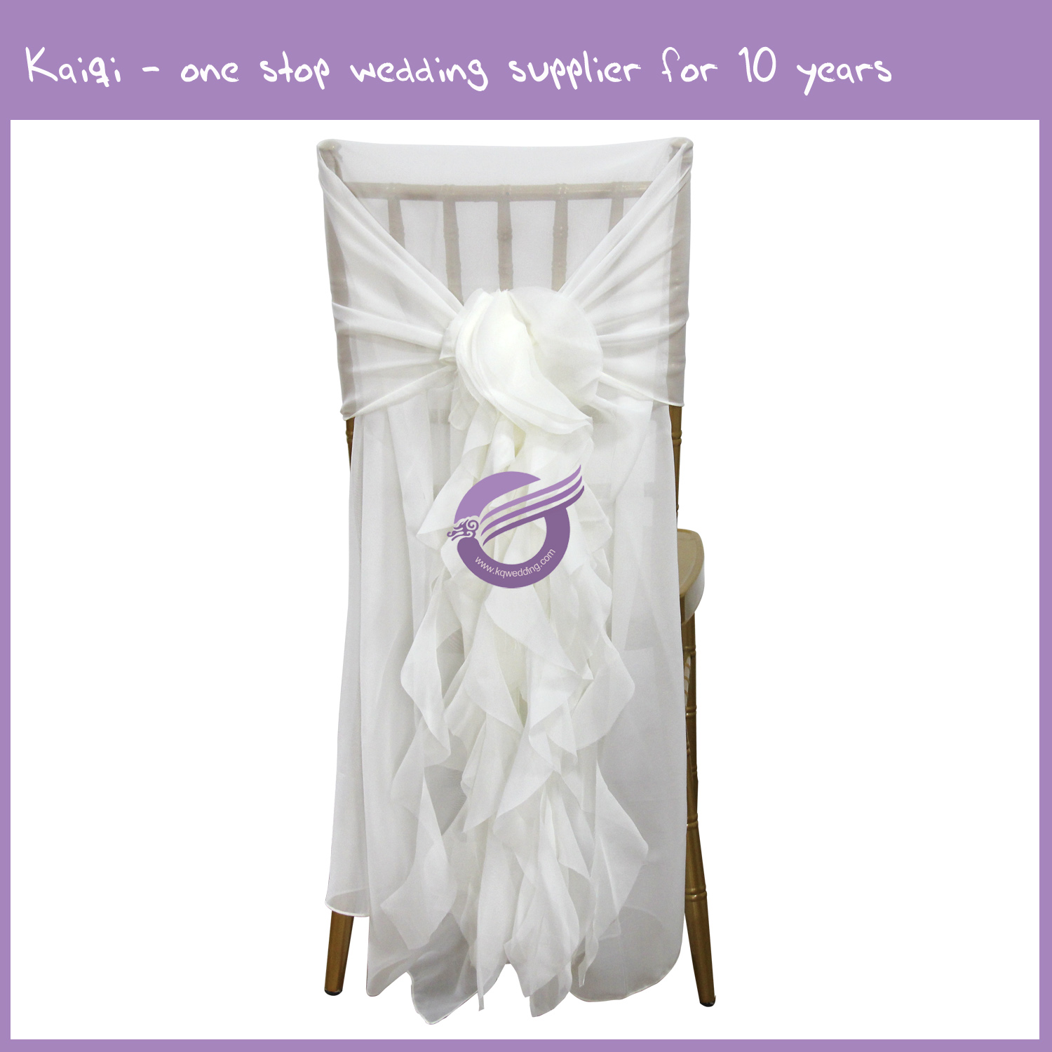 elegant chair covers and wedding decor used salon chairs for sale ivory bridal chiffon sash wrap