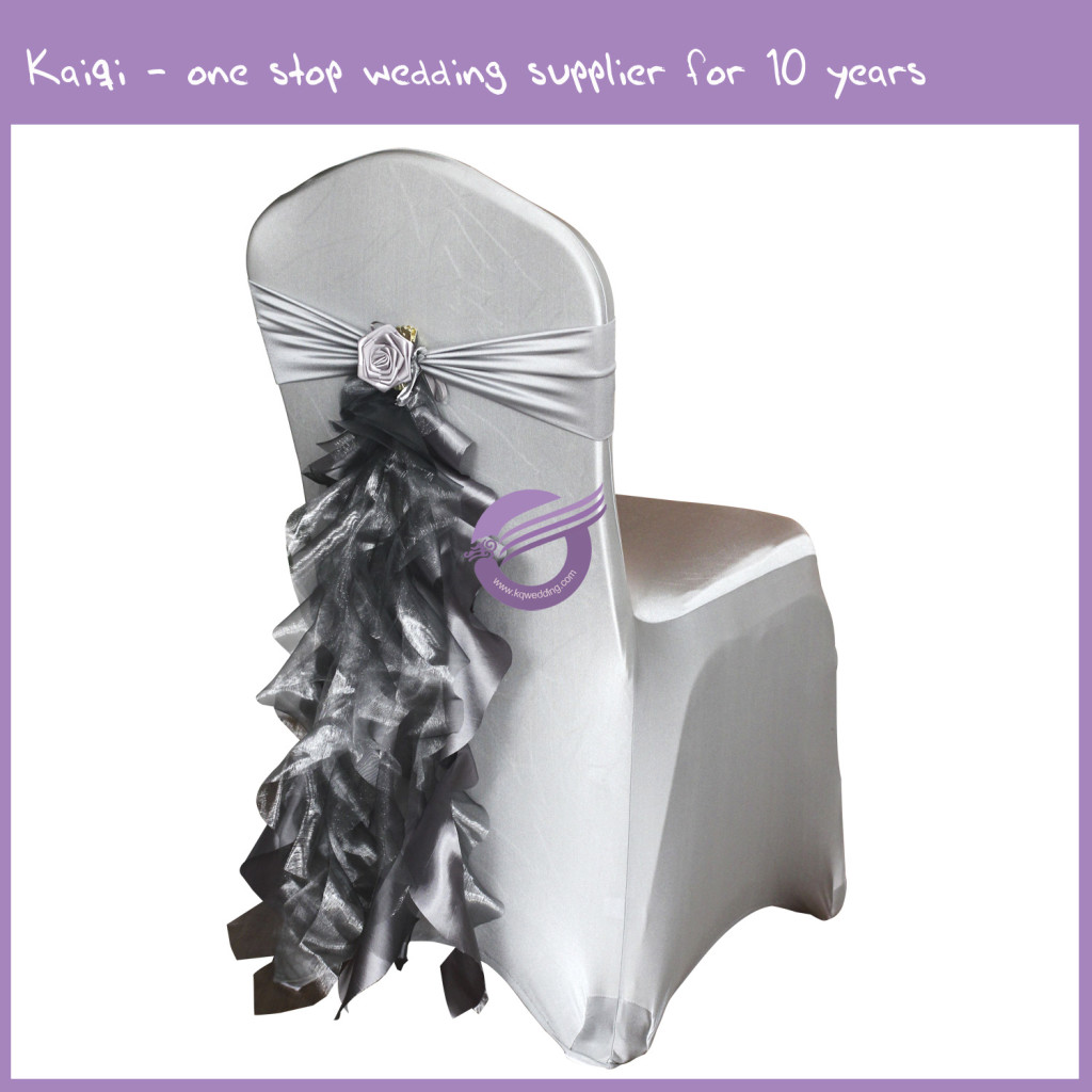 ruffle chair sashes cover hire west yorkshire pewter ruffled taffeta organza sash with decorative