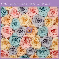 colorful paper flower backdrop diy 59 | Kaiqi Wedding