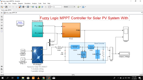 small resolution of fuzzy logic mppt for solar pv