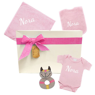 Kraamcadeau meisje geschenkset (roze)
