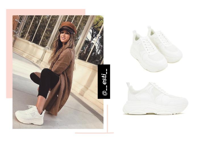 zapatos de chica deportivas la strada blancas social looks con influencer esti