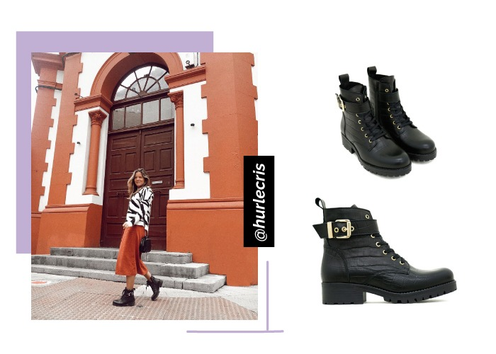 zapatos instagram social looks botas militares negras hurlecris