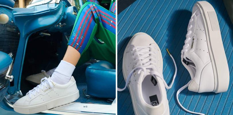 deportivas adidas sleek super blancas mujer
