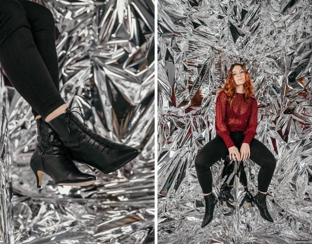 regalos de mujer  botines negros de tacón elegantes en krackonline