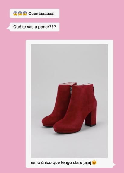 Botines altos de mujer rojos para san valentín