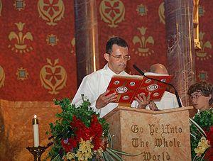 If a deacon participates, he reads the Gospel ...