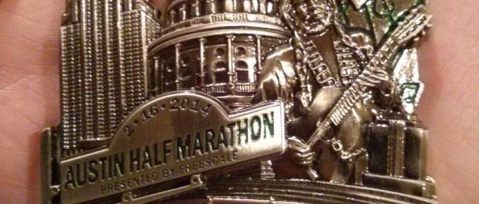 2014 Austin Half-Marathon Medal