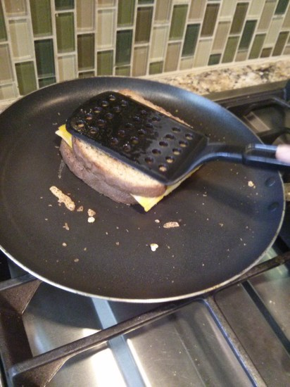 Making Grilled Cheese