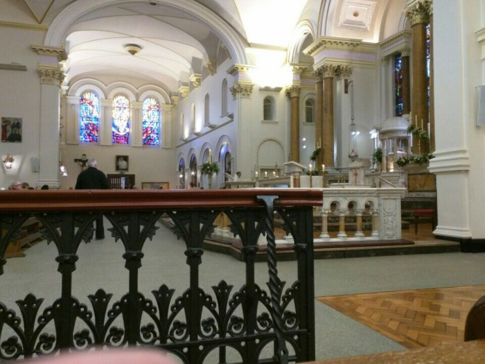 The view from transept.
