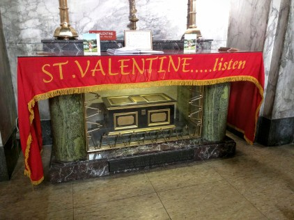 The relics of St. Valentine's.