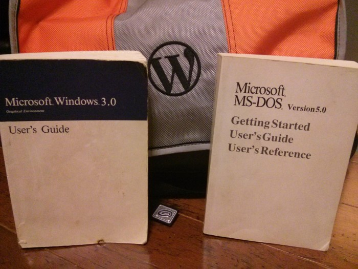 In honor of Windows 10, busting out some old reading.