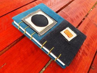 jurnal, handmade, velvet, kraftart, unicat, circle