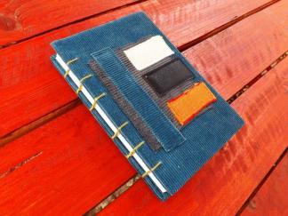 jurnal, handmade, velvet, kraftart, unicat, stripes