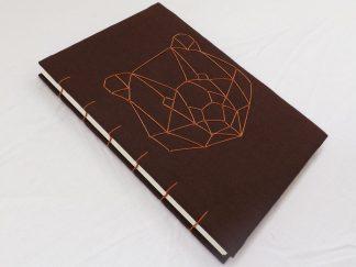 jurnal handmade, legatorie copta, jurnal urs, jurnal coptic, jurnal a5