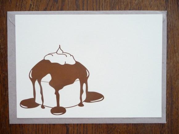 """Carte """"Cupcake au chocolat"""" par Kraftille"""