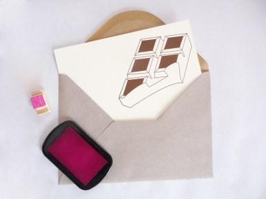 "Carte ""Tablette de chocolat"" par Kraftille"