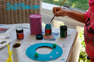 paper plate crafts, dala paints