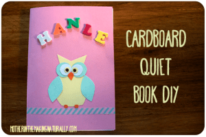 Cardboard Quiet Book DIY