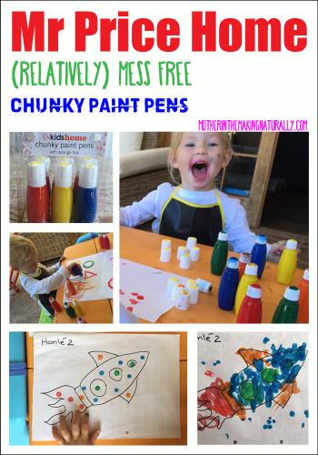 Mess free painting with MR Price Home Chunky Paint Pens