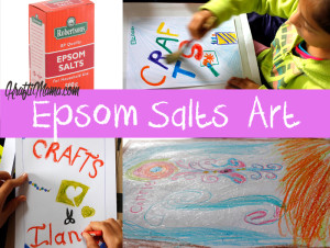 Epsom Salts Art, Kids Activities, Kids Art, Kids Crafts